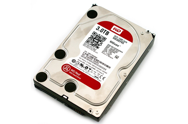 Жесткий диск HDD WD SATA3 3Tb Caviar Red 64Mb (WD30EFRX)